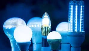 LED light bulbs of different types and sizes